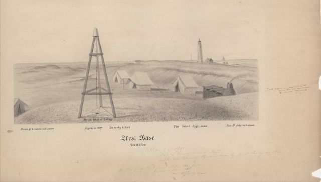 John Farley sketch of West Base of the Great Fire Island Base Line Picture