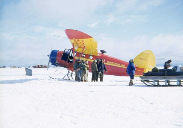 Transocean Airlines aircraft helping supply the Arctic Field Party camps. Picture
