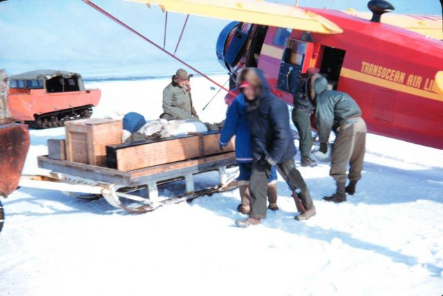 Unloading a Norseman ski-plane at Oliktok Point Picture
