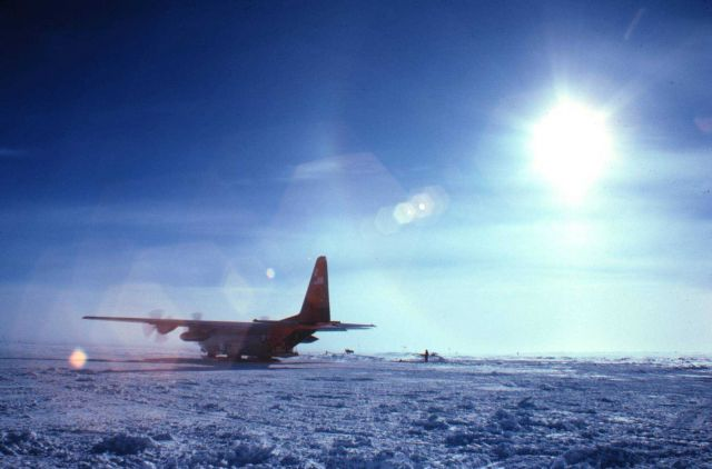 The C-130 preparing to head back to McMurdo Picture