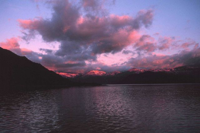Sunrise on the way to Ketchikan Picture