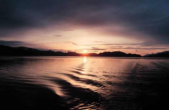 Sunset in Hoonah Sound area Picture
