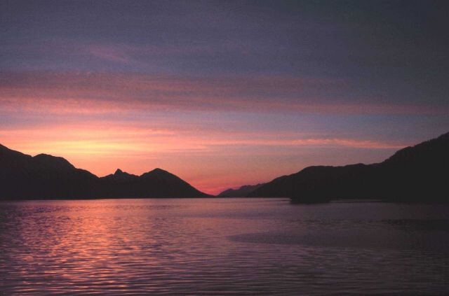 A Southeast Alaska sunset. Picture