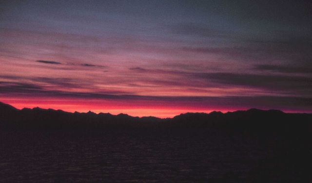 A Southeast Alaska sunset. Picture
