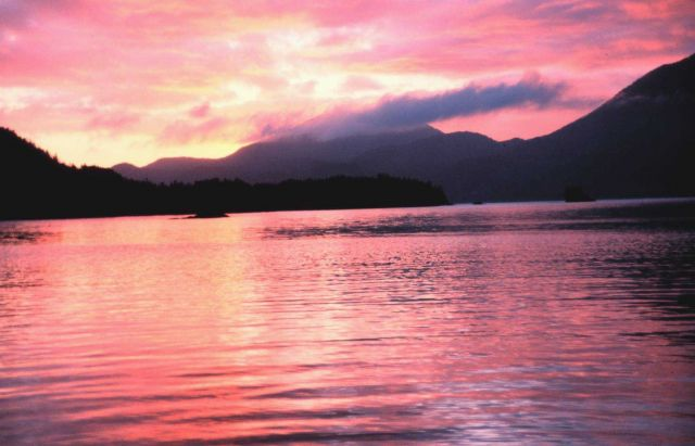 Sunset in the Inside Passage. Picture
