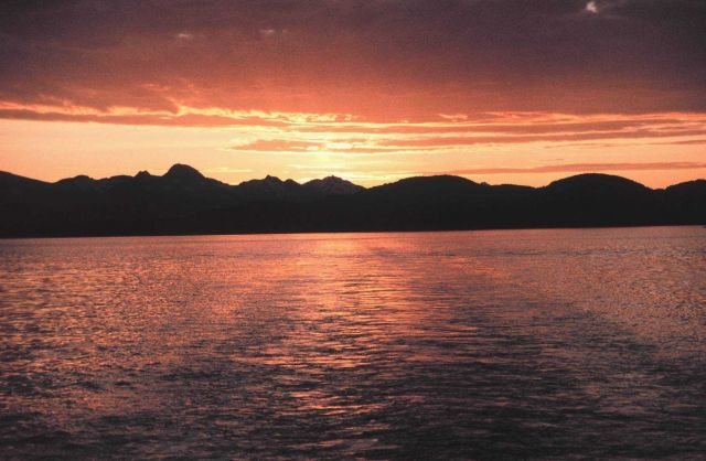 An Alaskan sunset. Picture