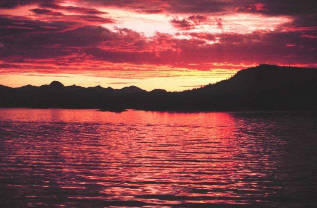 An Alaskan sunset. Picture