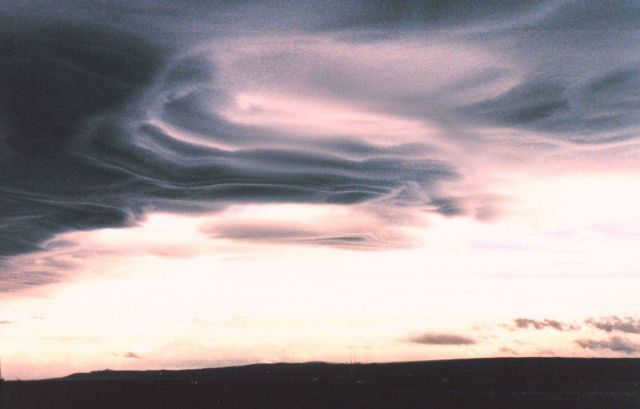 Mountain wave clouds over Tierra Del Fuego Picture