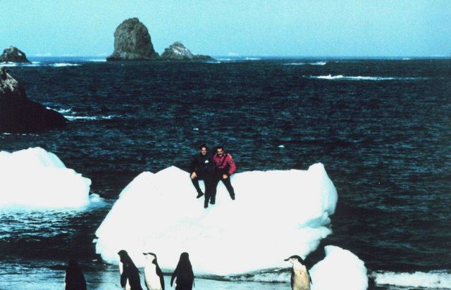 Lieutenants Dave Neander (l) and Rich Behn (r) at Seal Island They're really in the