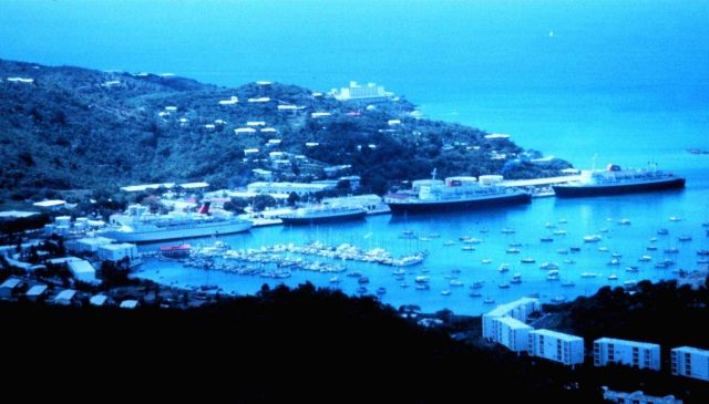 Cruise ships in the harbor at Charlotte Amalie Picture