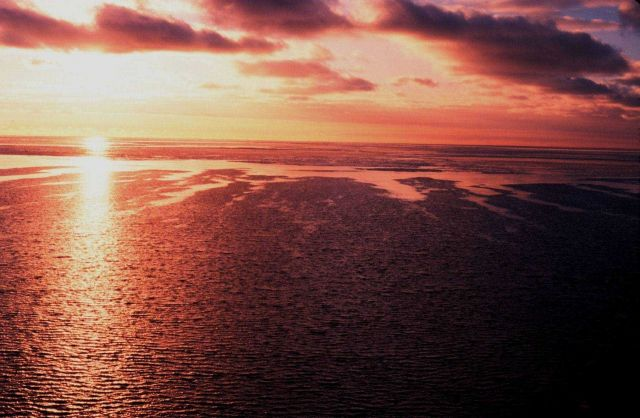 Sunset over the Ross Sea. Picture