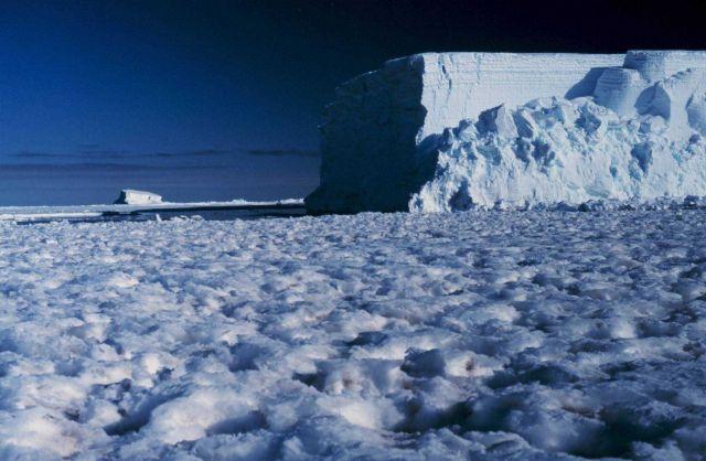 Emperor penguin colony at Cape Washington in the Ross Sea. Picture