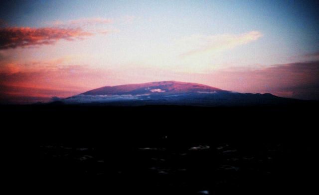 Mauna Loa at sunset Picture