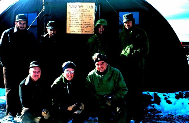 The engineers who built the Marble Point landing strip - the first ground strip in Antartica Picture