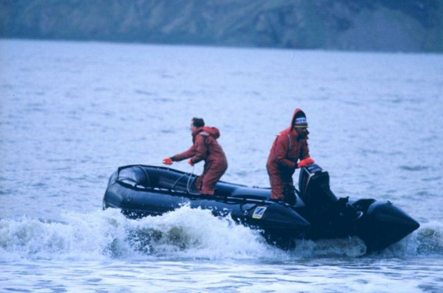 Small boat operations to resupply field camp on Seal Island Picture