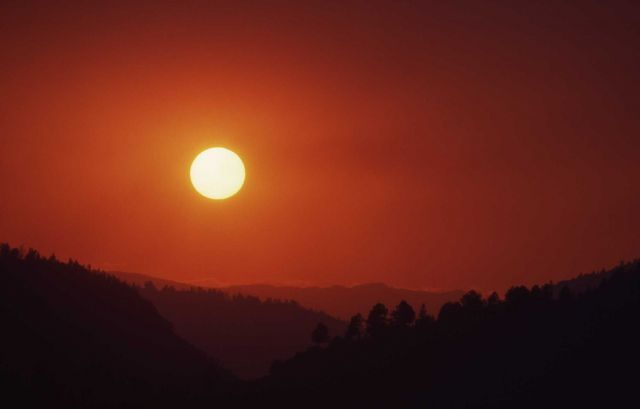 Smokey sunset in Lamar Valley Picture