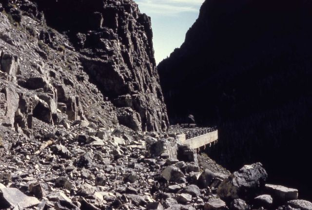 Slide damage on Golden Gate Bridge - Geology/Earthquake Picture