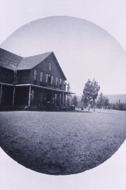 Two story frame hotel at Upper Geyser Basin Picture