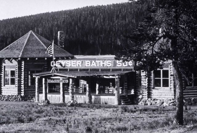 Geyser Baths bathhouse (later known as The Plunge) at Upper Geyser Basin Picture