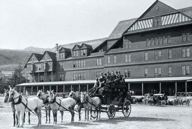 Mammoth Hotel with stagecoaches Picture