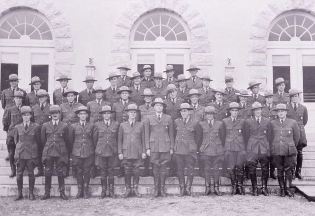 Group of Rangers in front of Mammoth Post Office Picture