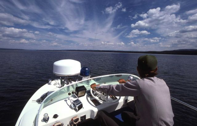 Yellowstone Lake boat patrol Picture