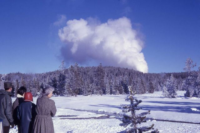 Steamboat at peak of eruption Picture