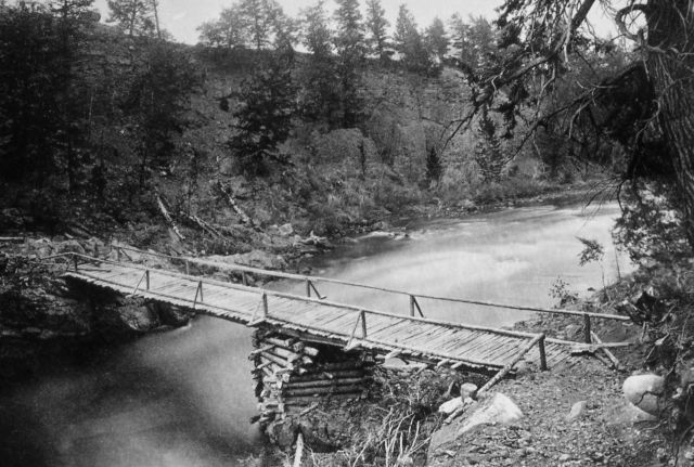 Baronett's bridge across Yellowstone River Picture