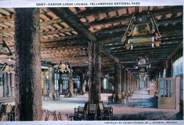 Postcard of Canyon Lodge Lounge Picture