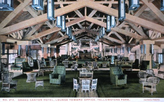 Postcard -213 - Grand Canyon Hotel Lounge Picture