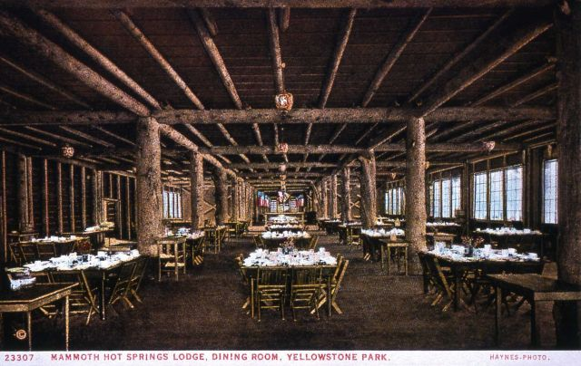 Postcard 23307 - Mammoth Hot Springs Lodge Dining Room Picture