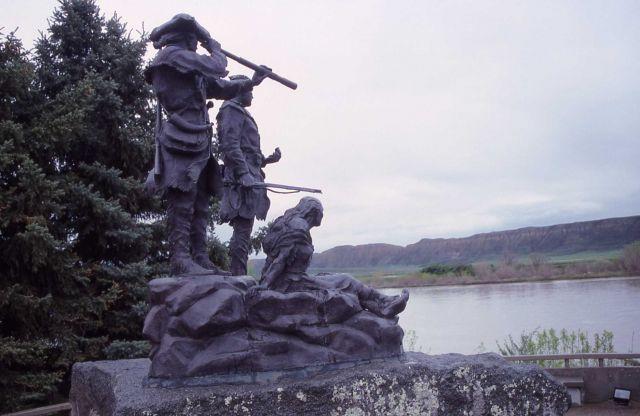 Lewis & Clark & Sacajawea statue in Fort Benton, Montana Picture