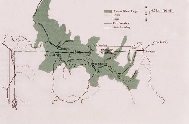 Map of Northern Winter Range (elk) Picture