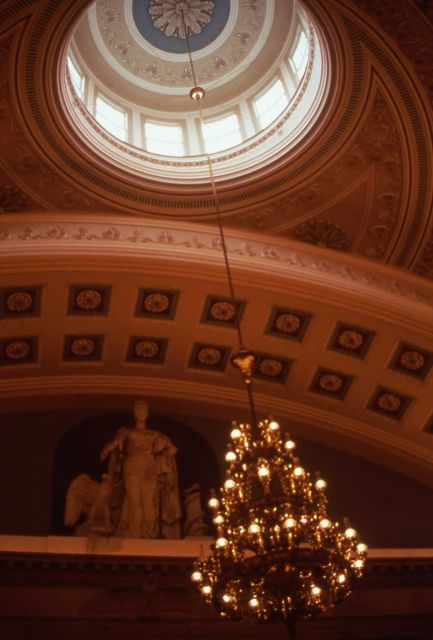 Interior ceiling dome in the National Capitol Building Picture