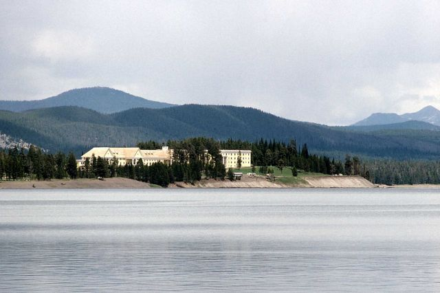 Lake Yellowstone Hotel as seen from Lake Yellowstone Picture