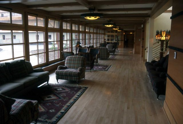 Sitting area in Old Faithful Snow Lodge Picture