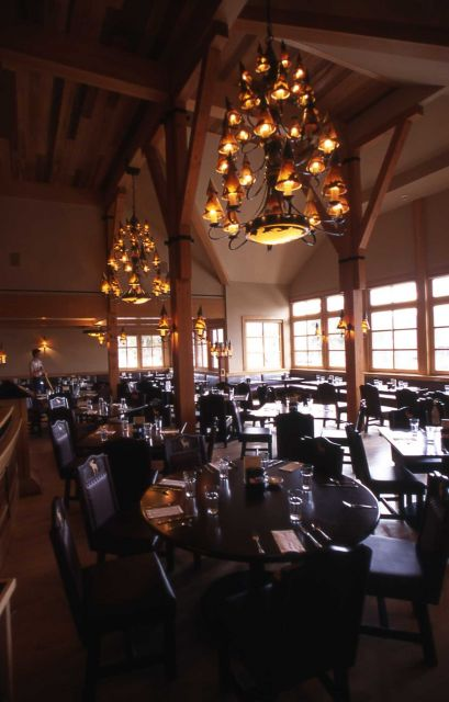 Interior of Old Faithful Snow Lodge dining room Picture