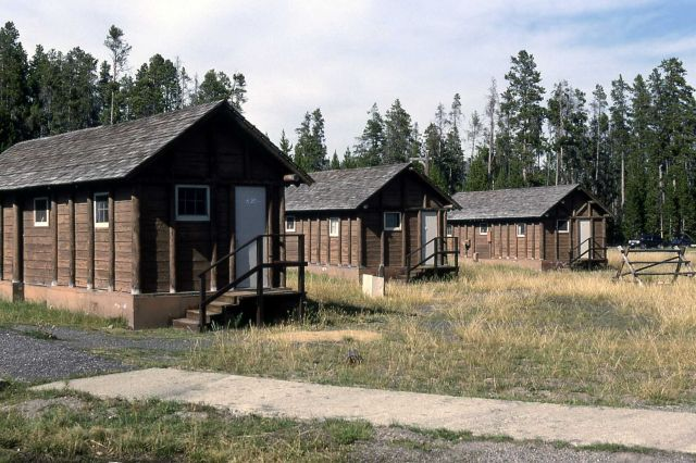 Exterior of a Lake Lodge cabin Picture