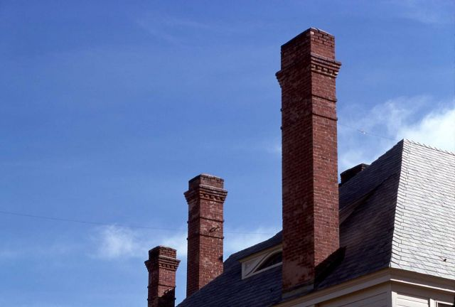 Fort Yellowstone chimneys Picture