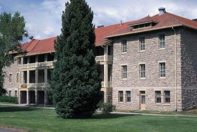 Double Cavalry Barracks at Fort Yellowstone Picture