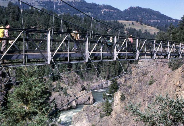 Suspension bridge at Hellroaring Picture