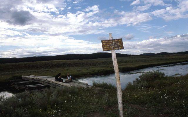Bridge over Pelican Creek in Pelican Valley Picture