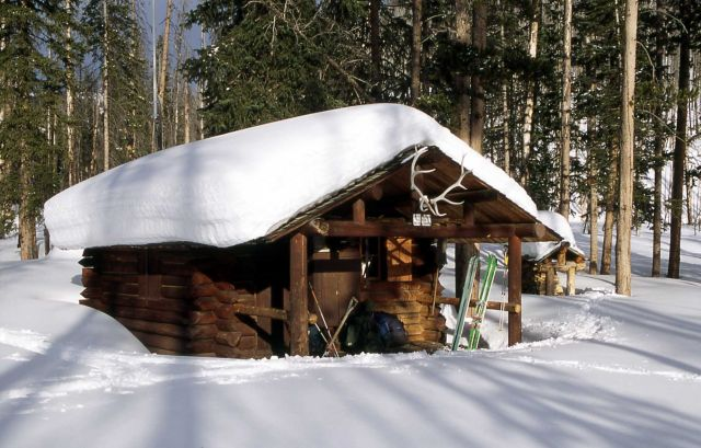 Upper Miller Creek patrol cabin in the winter Picture