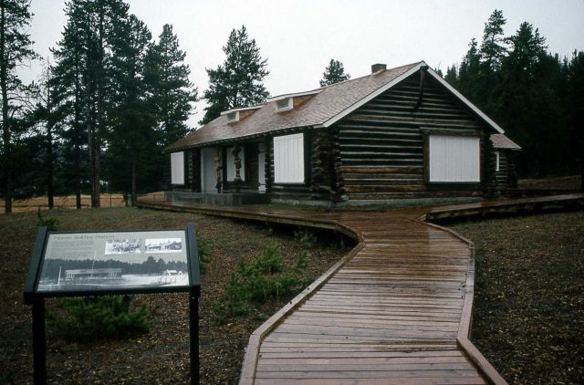 Museum of the National Park Ranger, wayside exhibit & boardwalk at Norris Picture