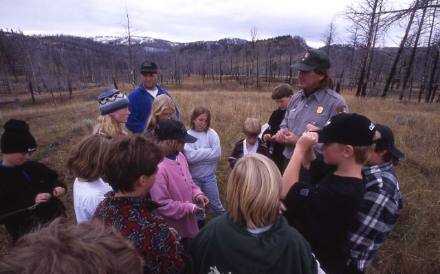 Ranger Mark Williams with Expedition Yellowstone Picture