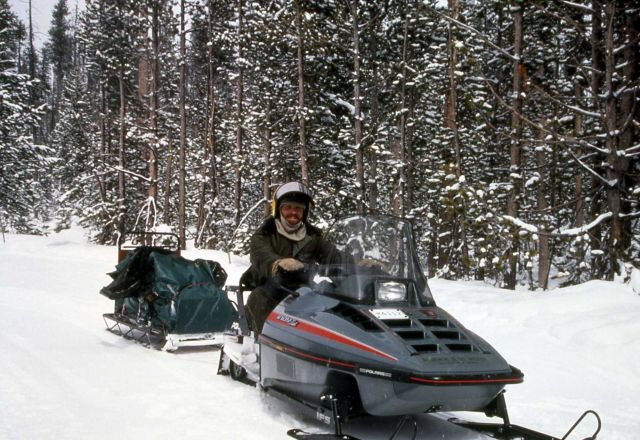 Ranger on snowmobile Picture