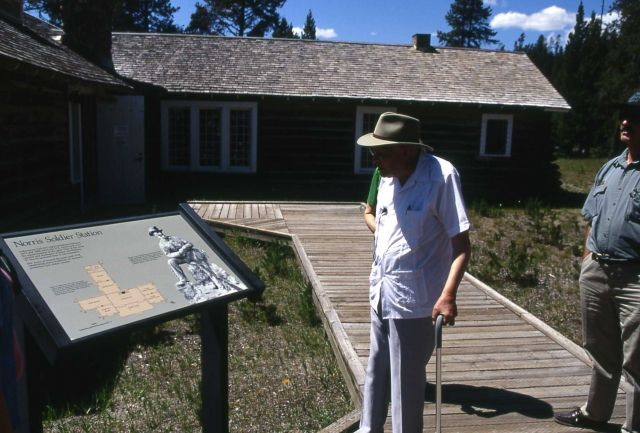 Aubrey Haines at the Museum of the National Park Ranger (Norris), with John Lounsbury Picture