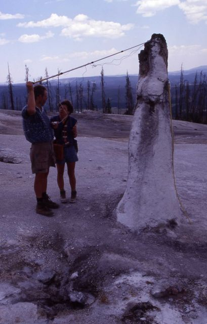 Researchers at Monument Geyser Basin Picture