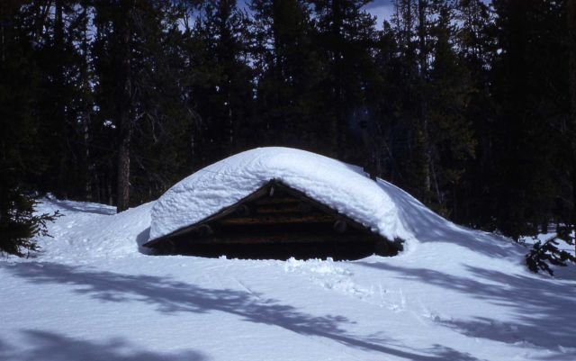 Crystal Creek patrol cabin in the winter Picture