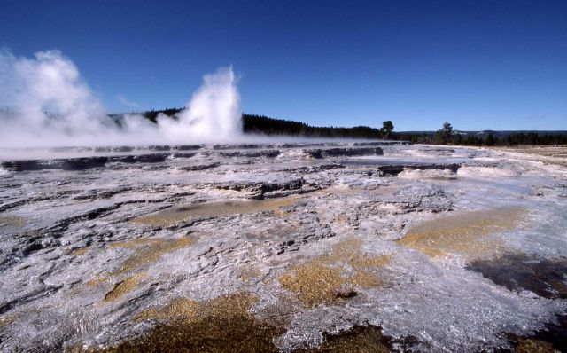 Great Fountain Geyser area - Midway & Lower Geyser Basin Picture